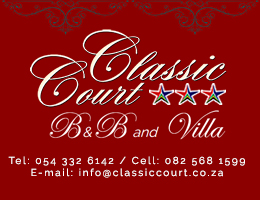 Upington Accommodation | Classic Court B&B and Villa